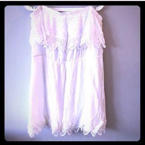Plus size strapless white dress